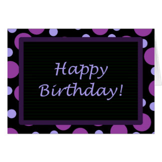 Happy Birthday! Purple Periwinkle Dots Card