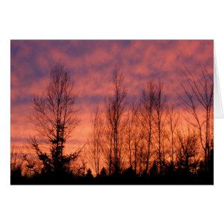 Happy Birthday - Purple Sunset Card