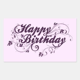 Happy Birthday Purple Swirls