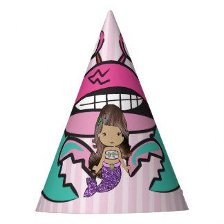 Happy Birthday Purplee Mermaid Birthday Hat