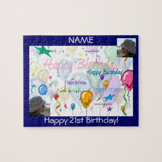 Happy Birthday Puzzle (Personalize w/Photos)