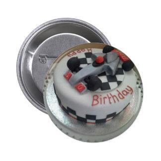 happy birthday racing car 2 inch round button