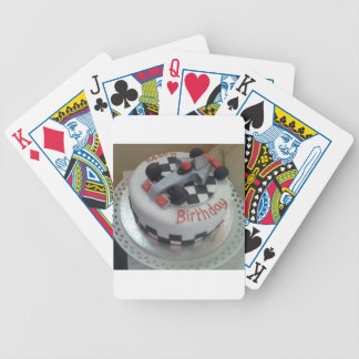 happy birthday racing car bicycle playing cards