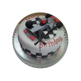 happy birthday racing car clocks