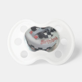 happy birthday racing car pacifier