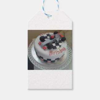 happy birthday racing car pack of gift tags