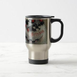 happy birthday racing car travel mug
