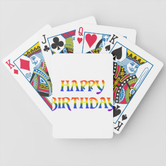 Happy Birthday Rainbow Bicycle Playing Cards