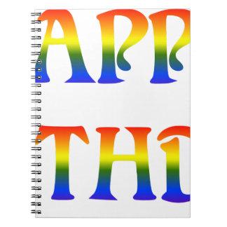 Happy Birthday Rainbow Notebook