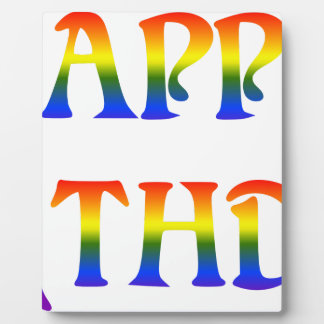 Happy Birthday Rainbow Plaque