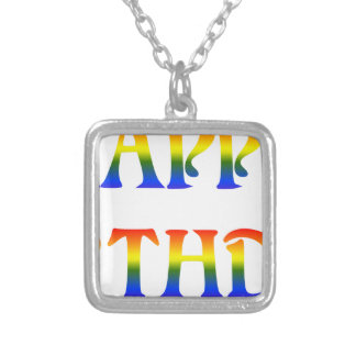 Happy Birthday Rainbow Silver Plated Necklace