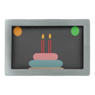 Happy Birthday Rectangular Belt Buckle