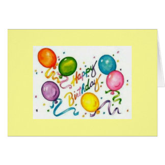 Happy Birthday Recycled  Greeting Card