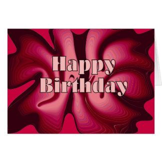 Happy Birthday Red Passion Card