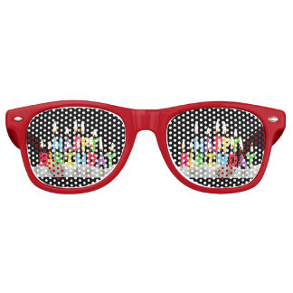 Happy Birthday Retro Sunglasses