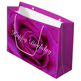 Happy Birthday Rose Gift Bag