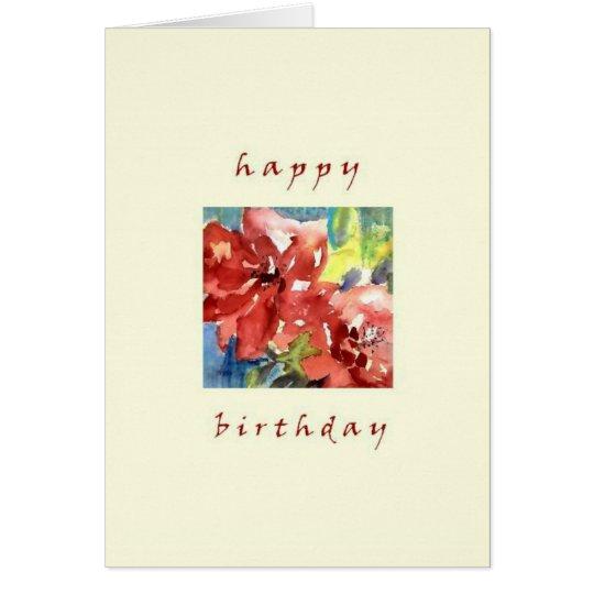 happy birthday, roses card