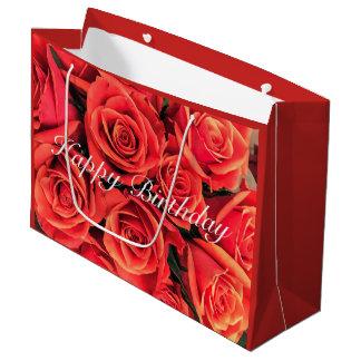 Happy Birthday Roses Gift Bag