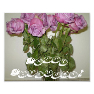 Happy Birthday Roses Photo Print