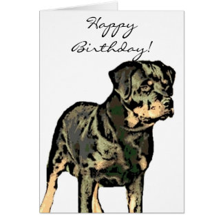 Happy Birthday Rottweiler greeting card