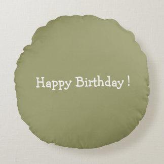 Happy Birthday ! Round Pillow