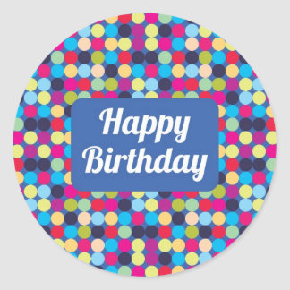 Happy Birthday  - Round Stickers