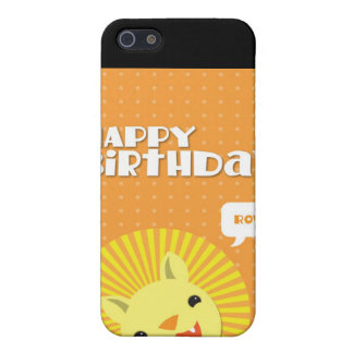 Happy Birthday Rowr Lion iPhone 5 Cover