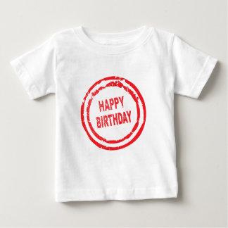 Happy Birthday Rubber Stamp Baby T-Shirt