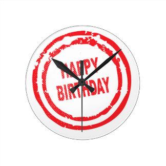 Happy Birthday Rubber Stamp Clock