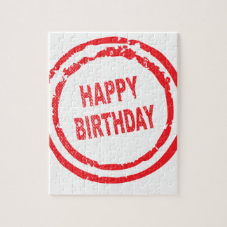 Happy Birthday Rubber Stamp Puzzle