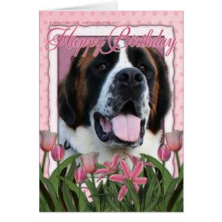 Happy Birthday - Saint Bernard - Mae Card