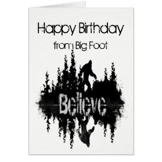 Happy Birthday Sasquatch Big Foot Funny for Anyone Card