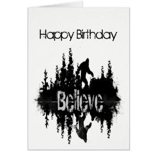 Happy Birthday Sasquatch, Big Foot Lake Reflection Card