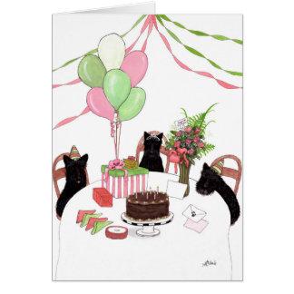 Happy Birthday Scotties Dogs Card by Bihrle
