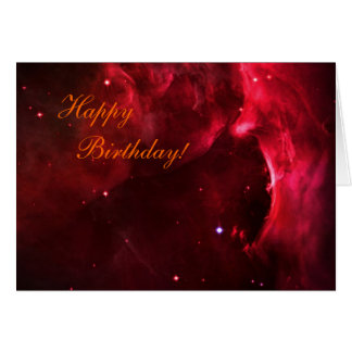 Happy Birthday - Sculpted Region of Orion Nebula Card