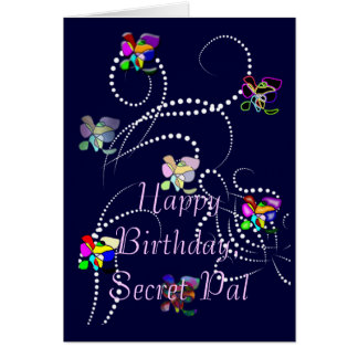 happy birthday secret pal greeting cards
