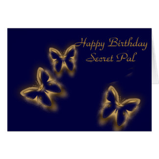 Happy Birthday, Secret Pal Greeting Card