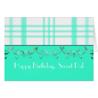 Happy Birthday Secret Pal Greeting Card