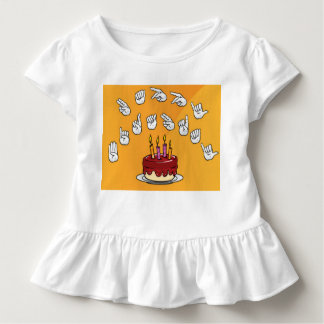 happy birthday sign language tshirt