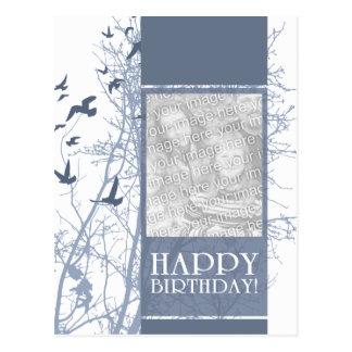 happy birthday (silhouscreen) postcard