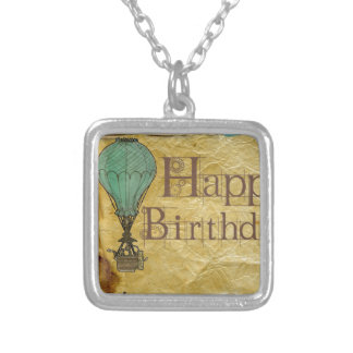 Happy-Birthday Silver Plated Necklace