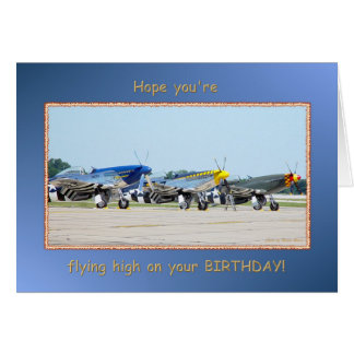 Happy Birthday Single Engine Airplanes Card