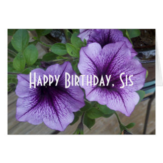 happy birthday sis card