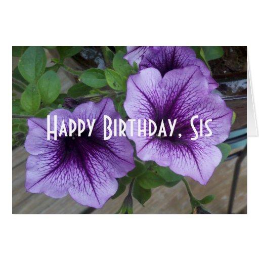happy birthday sis card