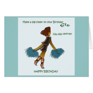 Happy Birthday Sis greeting card