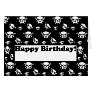Happy Birthday Skulls Template Card