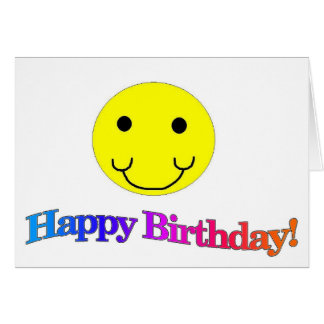Happy Birthday Smiley Card