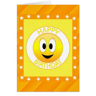 Happy Birthday Smiley Face Custom Card