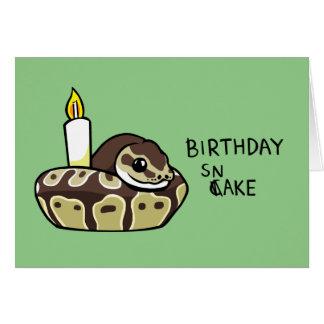 Happy Birthday Snake Cute Ball Python Drawing Card