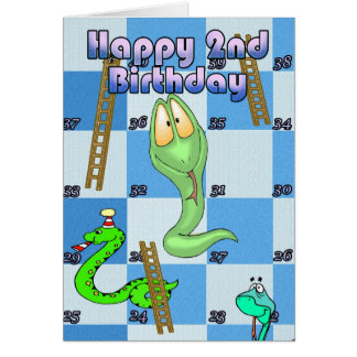 Happy Birthday snakes and ladders game Card